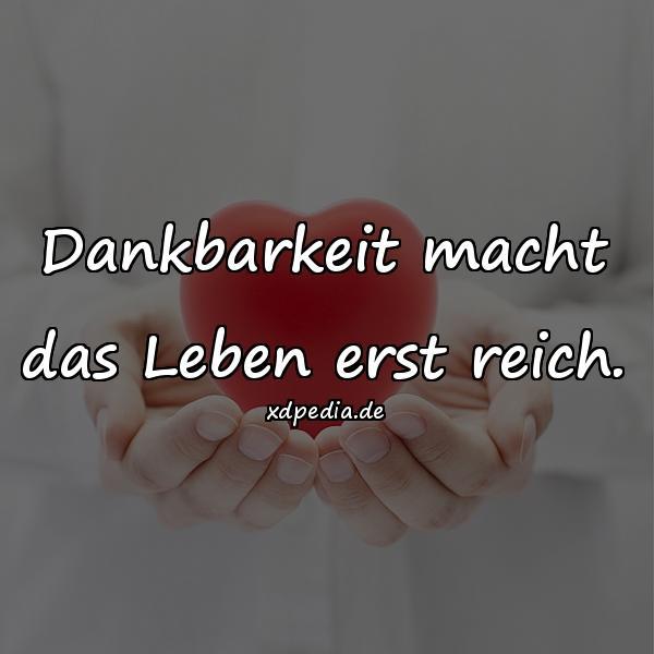 Dankbarkeit - Leben Zitate, Meme, beste, Zitate über Leben, - xdPedia.de