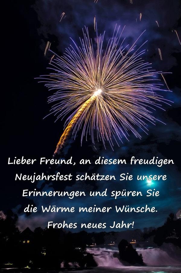 Frohes Neues Jahr Lieber Freund An Diesem Freudigen Neujahrsfest