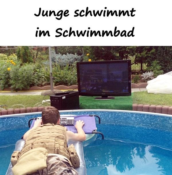 Lustige bilder schwimmbad