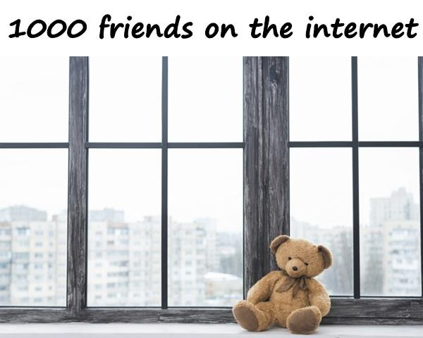 1000 friends on the internet