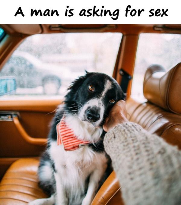 A man is asking for sex