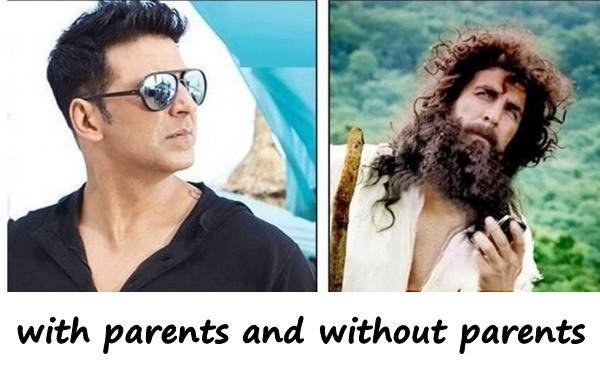 A man with parents and without parents