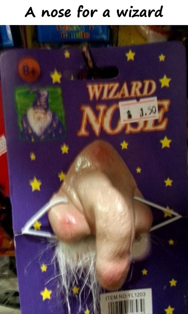 A nose for a wizard