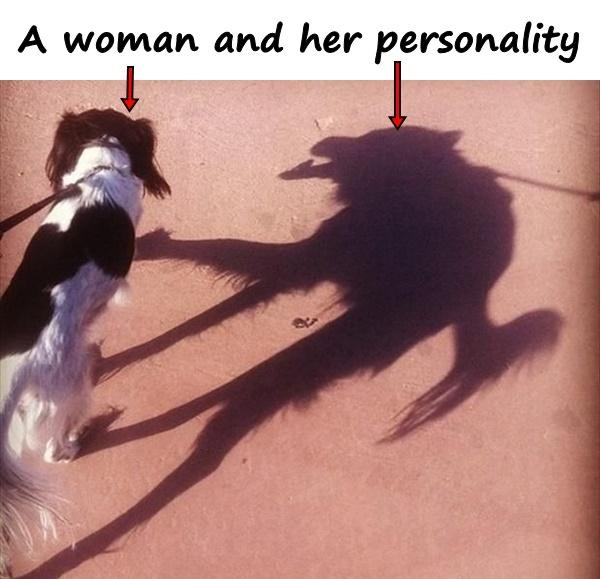 A woman and her personality