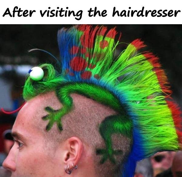 After visiting the hairdresser