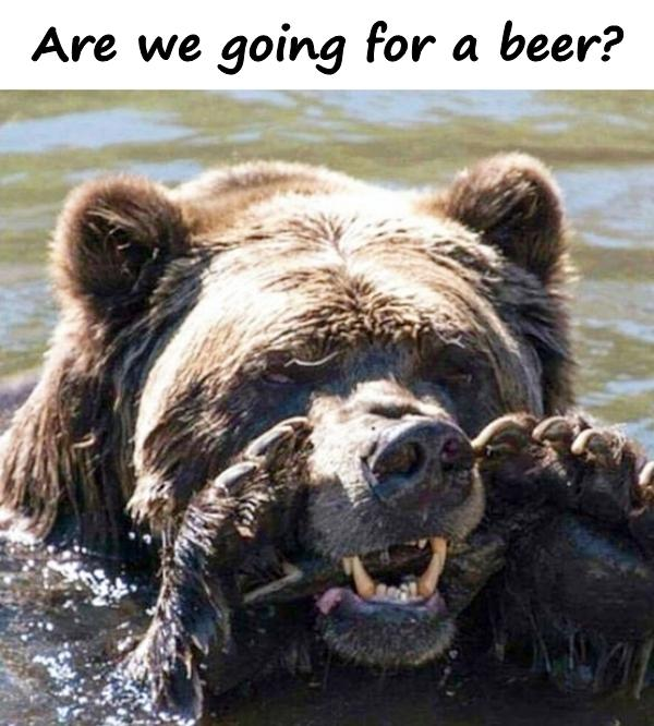 Are we going for a beer?