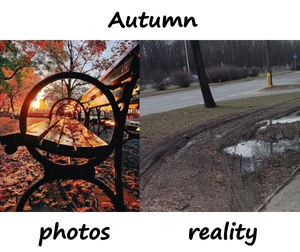 Autumn - photos and reality