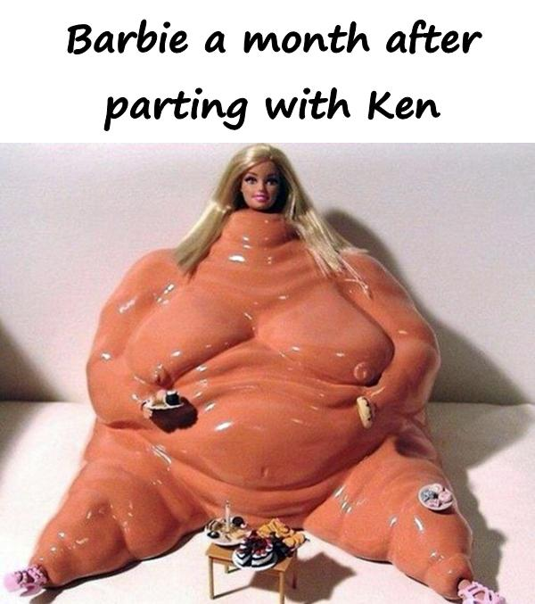 Barbie a month after parting with Ken