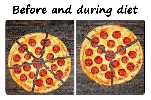 Before and during diet