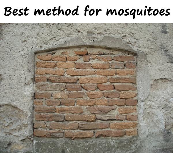 Best method for mosquitoes