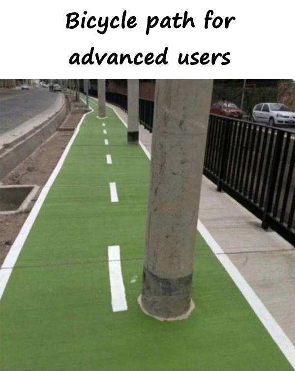 Bicycle path for advanced users