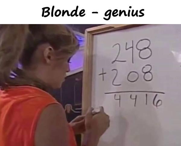 Blonde - genius