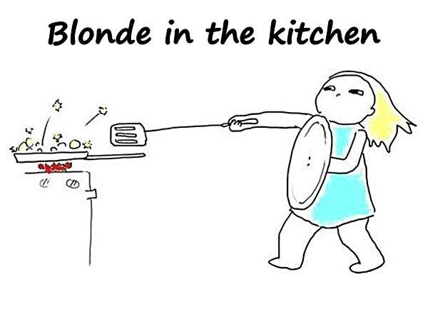 Blonde in the kitchen