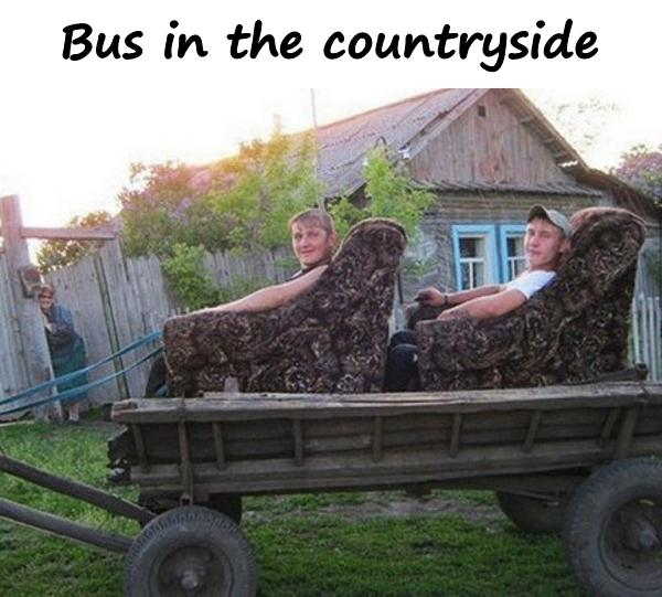Bus in the countryside