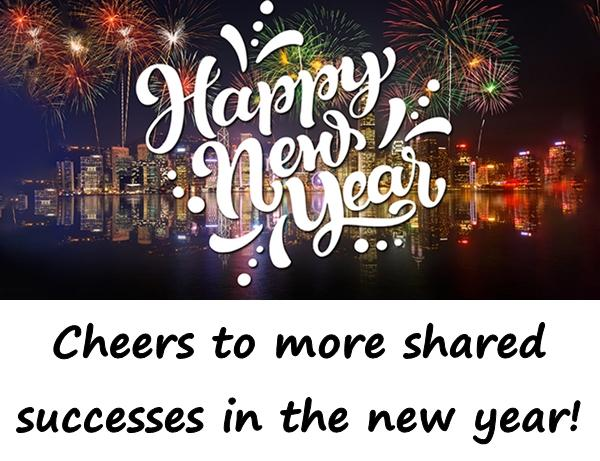 Cheers to more shared successes in the new year!