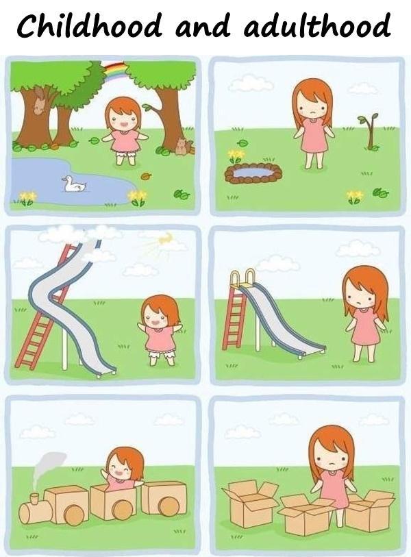 Childhood and adulthood