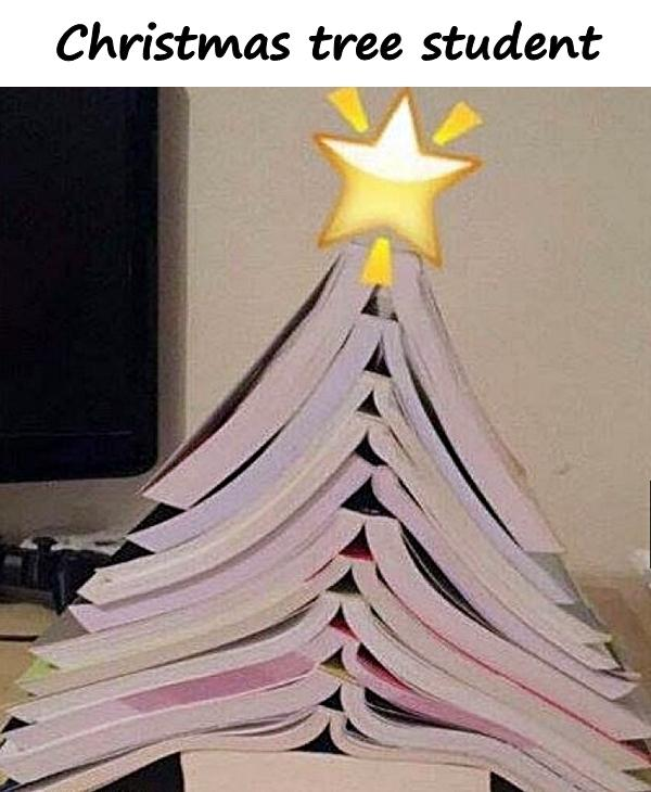 Christmas tree student