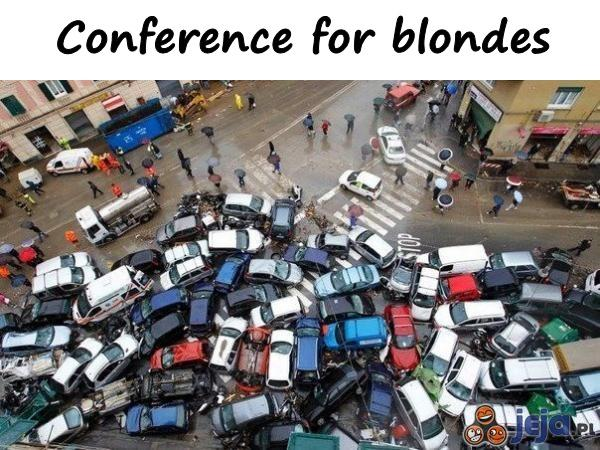 Conference for blondes