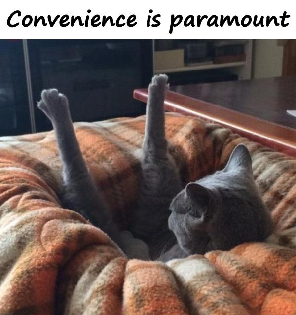 Convenience is paramount