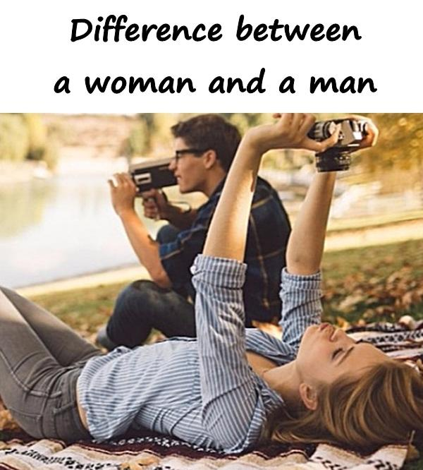 Difference between a woman and a man