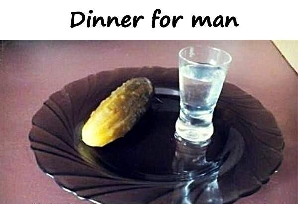Dinner for man