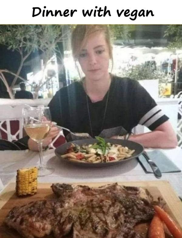 Dinner with vegan
