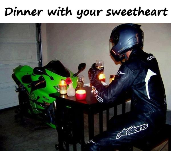 Dinner with your sweetheart