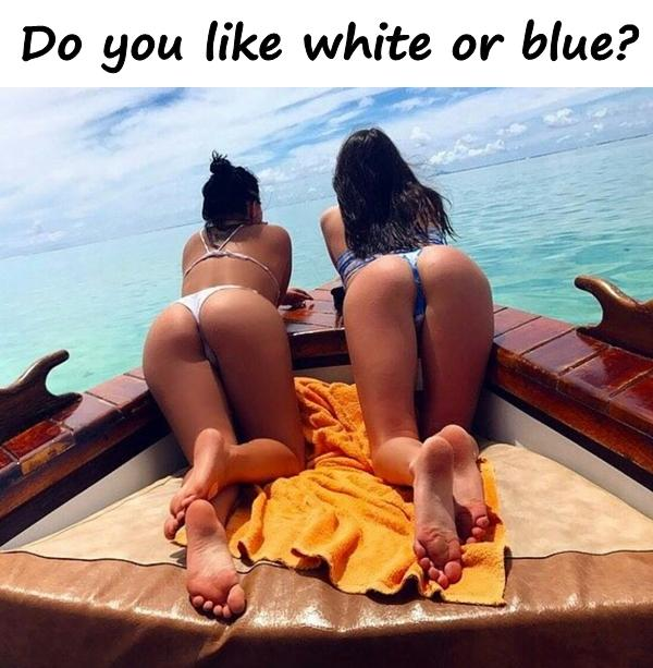 Do you like white or blue?