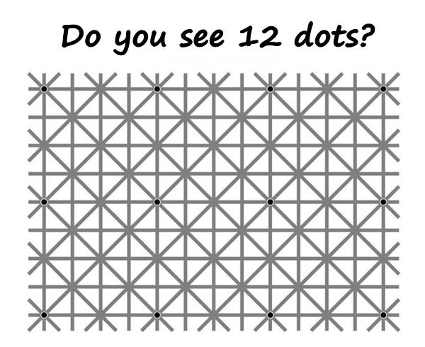 Do you see 12 dots?