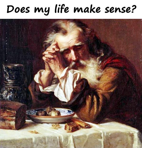 Does my life make sense?