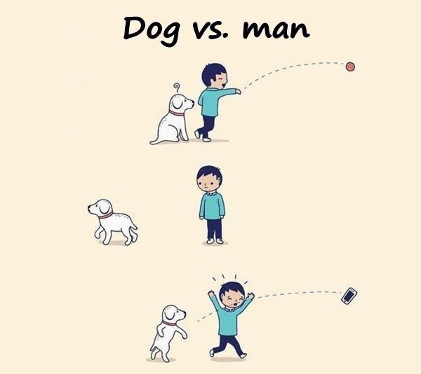 Dog vs. man