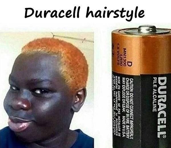Duracell hairstyle