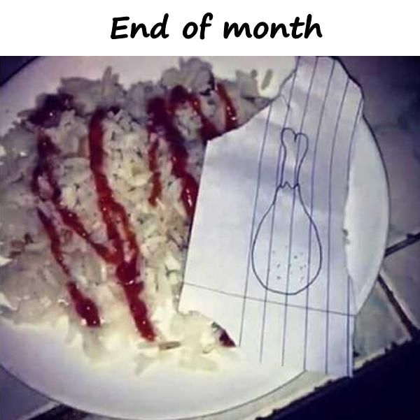 End of month