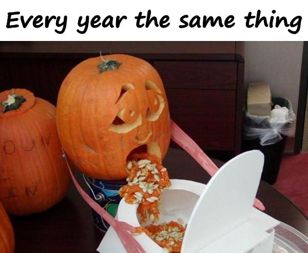 Every year the same thing