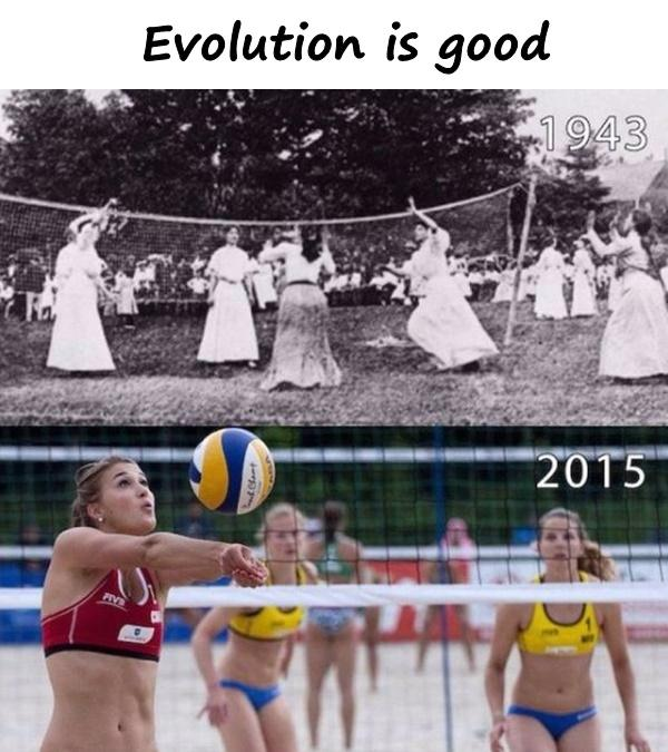 Evolution is good
