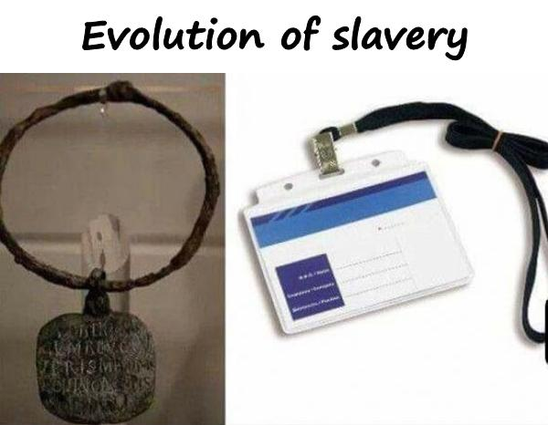 Evolution of slavery