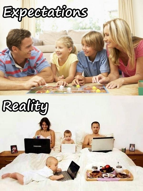 Family - expectations and reality