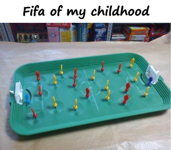 Fifa of my childhood