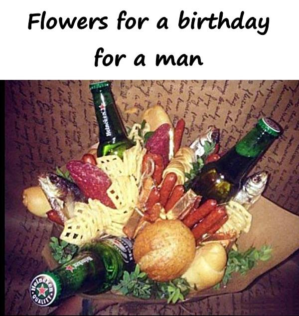 Flowers for a birthday for a man