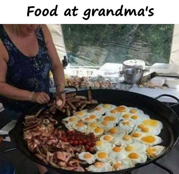 Food at grandma's