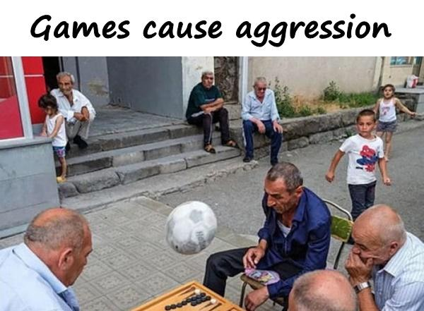 Games cause aggression