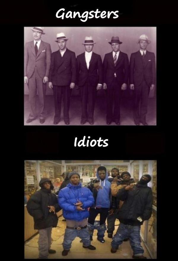 Gangsters vs. idiots