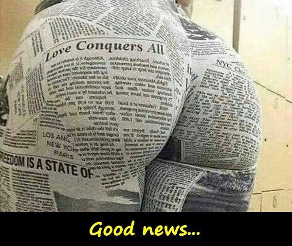 Good news...