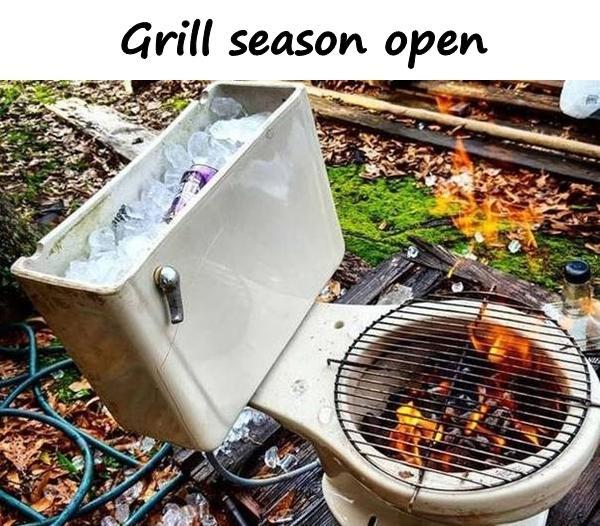 Grill season open