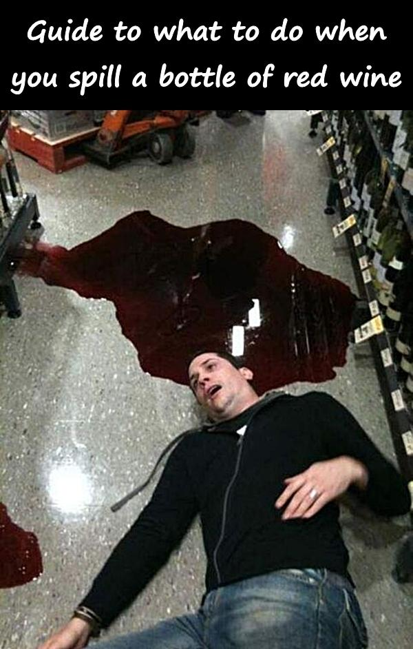 Guide to what to do when you spill a bottle of red wine