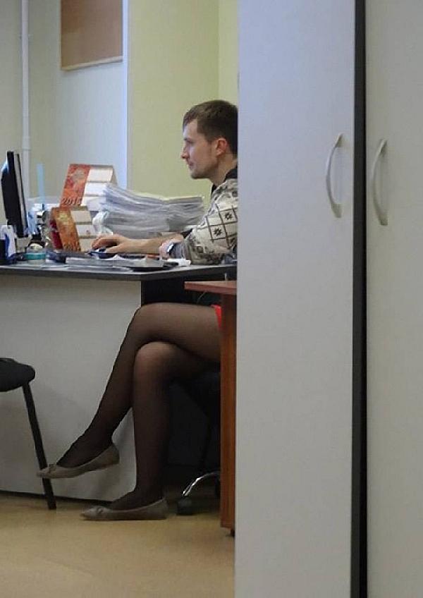 Guy in tights