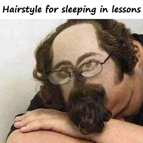Hairstyle for sleeping in lessons