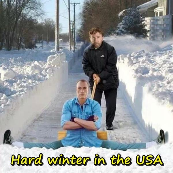 Hard winter in the USA