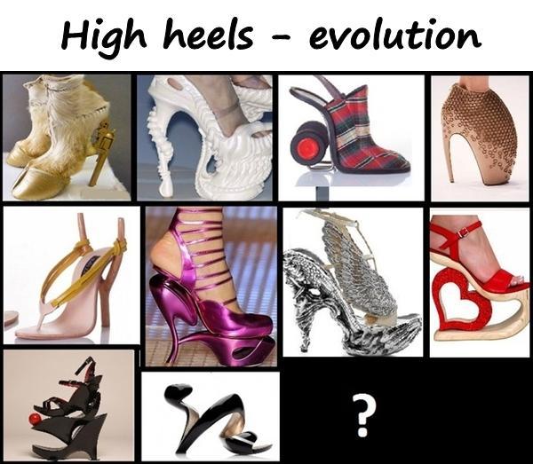 High heels - evolution