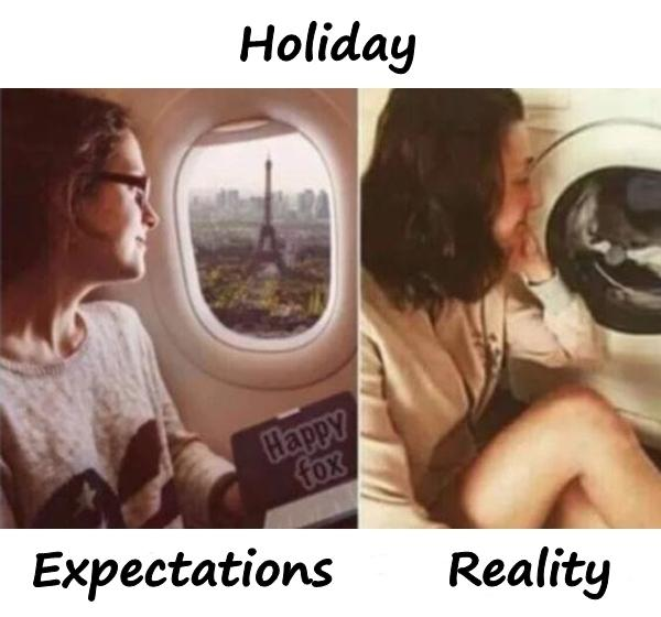 Holiday - expectations and reality